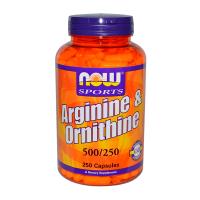 Arginine and Ornithine 500/250mg - 250 Caps