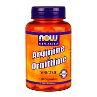 NOW Arginine / Ornithine - 100 capsules