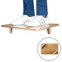 Wooden balance board with semicircles Softee - 1