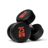 Dumbbells rubber ng - 22.5 kg AFW Strength - 1