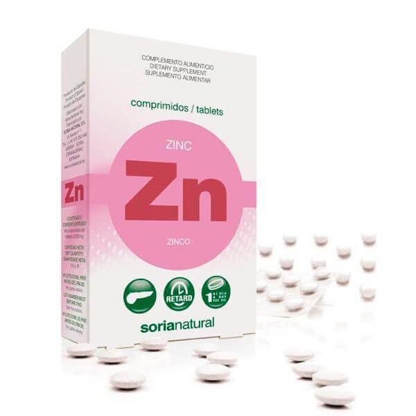 Zinc - 48 tablets Soria Natural - 1