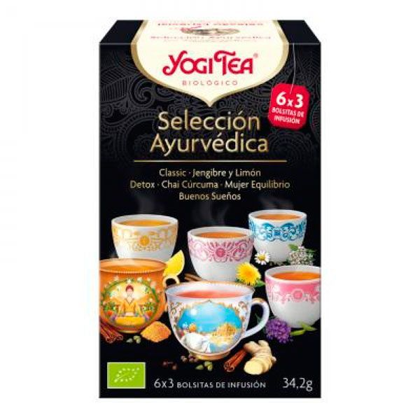 Yogi tea ayurvedic selection - 18 assorted sachets Yogi Organic - 1