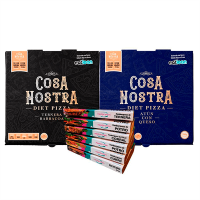 Pack of 6 Trays of Burgers + 2 Cosa Nostra Diet Pizzas - Meat Protein Meat Protein - 1