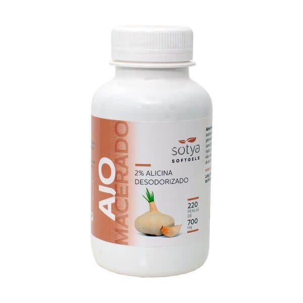 Macerated garlic 700mg - 220 softgels Sotya Health Supplements - 1