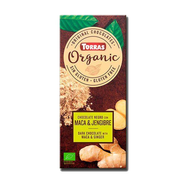 Dark chocolate with maca and organic ginger - 100g
