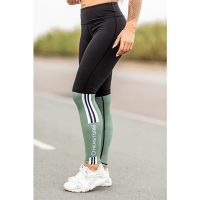 Bar layered workout legging Black/Olive
