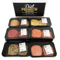 10-tray pack 100% fresh hamburgers - Diet Premium